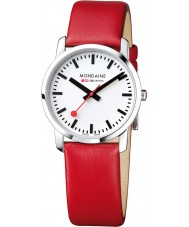 Mondaine A400-30351-11SBC Simply Elegant Red Leather Strap Watch