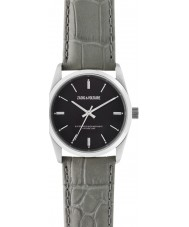 Zadig and Voltaire ZVF237 Fusion Grey Crock Leather Strap Watch
