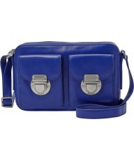 Fossil ZB6451439 Ladies Riley Sapphire Top Zip Cross Body Bag