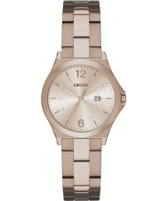 DKNY NY2368 Ladies Parsons Beige Gold Plated Watch