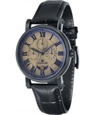 Thomas Earnshaw ES-8031-05 Mens Maskelyne Black Crock Leather Strap Watch