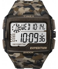 Timex TW4B07300 Mens Grid Shock Brown Resin Strap Watch