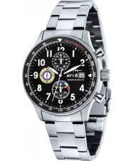 AVI-8 AV-4011-12 Mens Hawker Hurricane Silver Steel Chronograph Watch