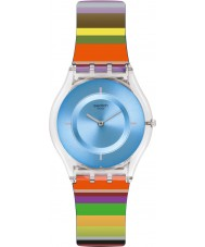 Swatch SFE107 Ladies Pretty Ladder Multicoloured Silicone Strap Watch