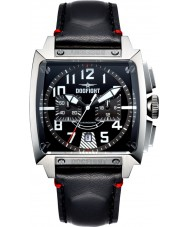Dogfight DF0002 Mens Experten Black Leather Chronograph Watch