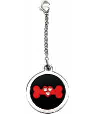 I Puppies PF-004-R Dog Steel and Red Tag For Collar Medallion
