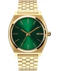 Nixon A045-1919 Time Teller Gold Green Sunray Watch