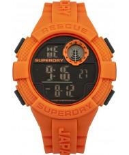 Superdry SYG193O Mens Radar Digital Orange Silicone Strap Watch
