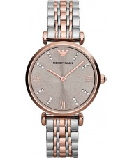 Emporio Armani AR1840 Ladies Classic Steel and Rose Gold Watch