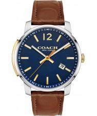 Coach 14602114 Mens Bleeker Dark Saddle Leather Strap Watch