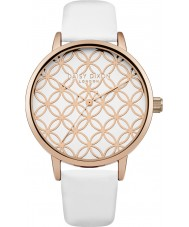 Daisy Dixon DD034WRG Ladies Penny White Leather Strap Watch