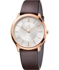 Calvin Klein K3M216G6 Mens Minimal Brown Leather Strap Watch