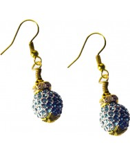 Nevine Crystals CCS105 Teal Crystal Earrings