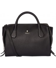 Modalu MH6164-BLACK Ladies Willow Black Triple Compartment Grab Bag