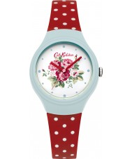 Cath Kidston CKL024UR Ladies Spray Flowers Red with Polka Dot Watch