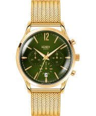 Henry London HL41-CM-0108 Mens Chiswick Moss Green Hamilton Gold Chronograph Watch