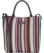 Fiorelli FH8653-NAVYMIX Ladies Mckenzie Navy Weave Tote Bag