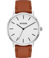 Nixon A1058-2442 Mens Porter Saddle Leather Strap Watch