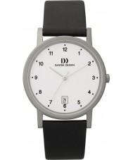 Danish Design Q12Q170 Mens Black Leather Strap Watch