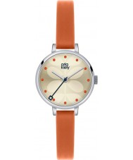 Orla Kiely OK2013 Ladies Ivy Orange Leather Strap Watch