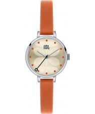 Orla Kiely OK2013 Ladies Ivy Orange Leather Strap Watch