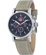 AVI-8 AV-4041-02 Mens Hawker Hurricane Stone Leather Strap Chronograph Watch