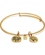 Chrysalis CRBT0002GP Tree of 14ct Gold Plated Expandable Bangle