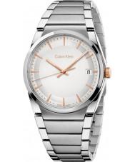 Calvin Klein K6K31B46 Mens Step Silver Steel Bracelet Watch