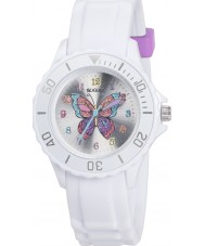 Tikkers TK0052 Girls White Glitter Butterfly Watch
