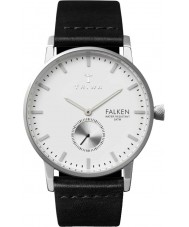 Triwa FAST103-CL010112 Ivory Falken Black Leather Strap Watch