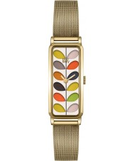 Orla Kiely OK4034 Ladies Stem Print Gold Mesh Bracelet Watch