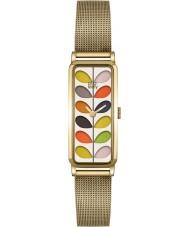 Orla Kiely OK4034 Ladies Stem Print Gold Mesh Bracelet Watch
