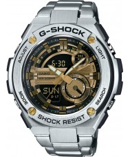Casio GST-210D-9AER Mens G-Shock Auto Led Light Silver Steel Bracelet Watch