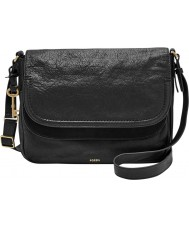Fossil ZB7101001 Ladies Peyton Black Large Double Flap Bag