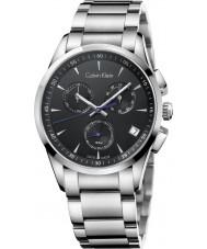 Calvin Klein K5A27141 Bold Black Silver Chronograph Watch