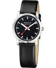 Mondaine A400-30351-14SBB Simply Elegant Black Leather Strap Watch