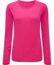 Ronhill RH-001956R027-8 Ladies Vizion Fluo Pink Motion Long Sleeve Tee - Size UK 8 (XS)