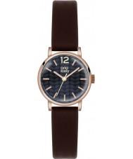 Orla Kiely OK2014 Ladies Frankie Dark Brown Leather Strap Watch