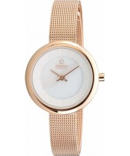 Obaku V146LXVWMV Ladies Rose Gold Plated Mesh Bracelet Watch