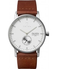Triwa FAST103-CL010212 Ivory Falken Brown Leather Strap Watch