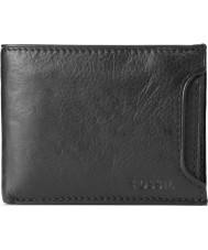 Fossil ML3288001 Mens Hale Sliding 2 In 1 Black Wallet