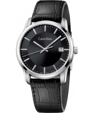 Calvin Klein K5S311C1 Mens Infinity Leather Black Watch