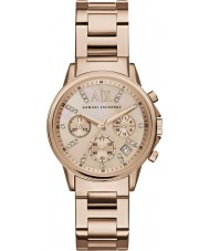 Armani Exchange AX4326 Ladies Dress Rose Gold Plated Chronograph Watch
