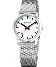 Mondaine A400-30351-16SBM Simply Elegant Silver Steel Mesh Bracelet Watch