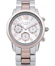 Lipsy LP130 Ladies Silver and Gold Sports Watch