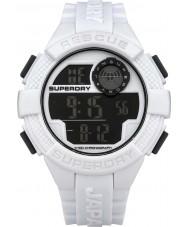 Superdry SYG193W Mens Radar Digital White Silicone Strap Watch