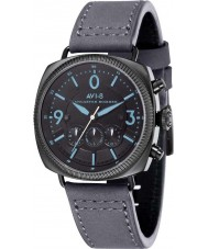 AVI-8 AV-4022-08 Mens Lancaster Bomber Grey Leather Strap Chronograph Watch