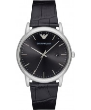 Emporio Armani AR2500 Mens Dress Black Leather Strap Watch