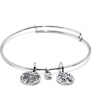 Chrysalis CRBT0002SP Tree of Rhodium Plated Expandable Bangle