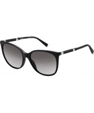 MaxMara Ladies MM Design II CSA EU Black Palladium Sunglasses